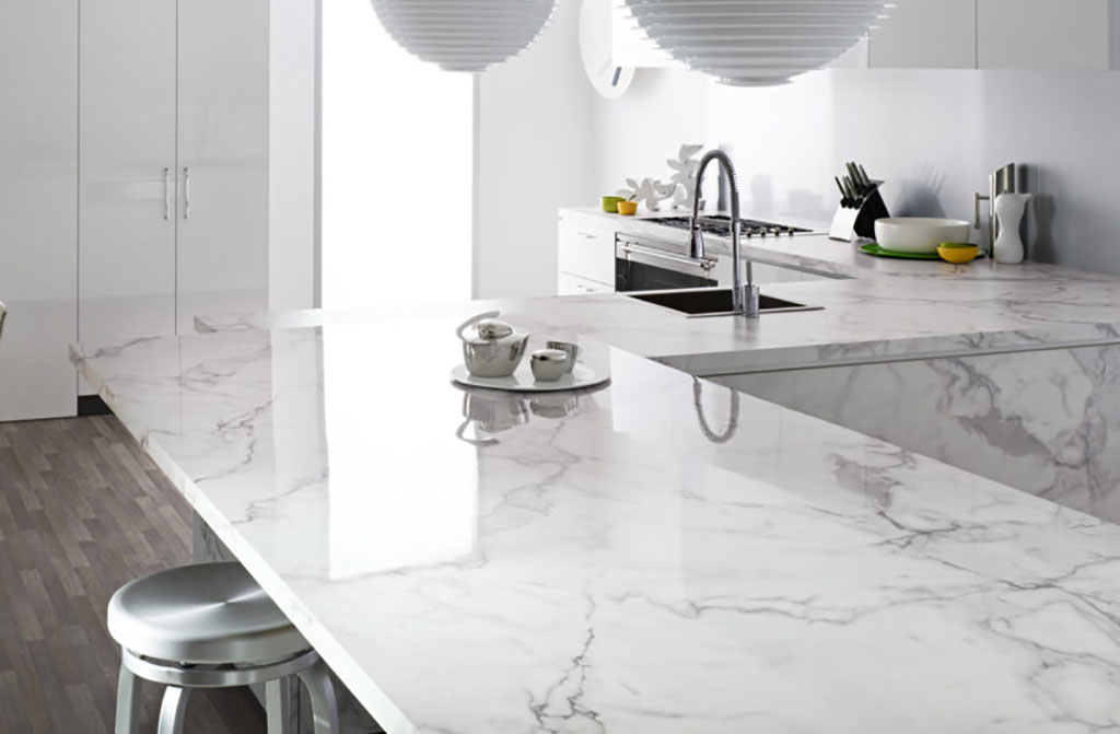 Countertop Options 2017 : Trend to Watch 2017: White Marble Countertops