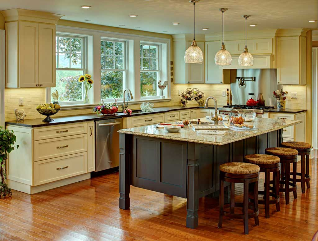 Matching kitchen countertops cabinets advanced granite for Kitchen countertop options pictures