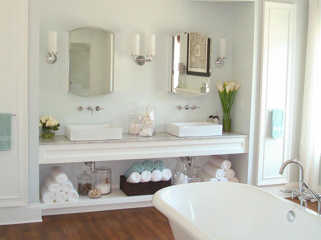 Bathroom Countertop Storage