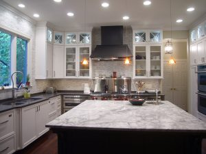 two different granite colors kitchen 4